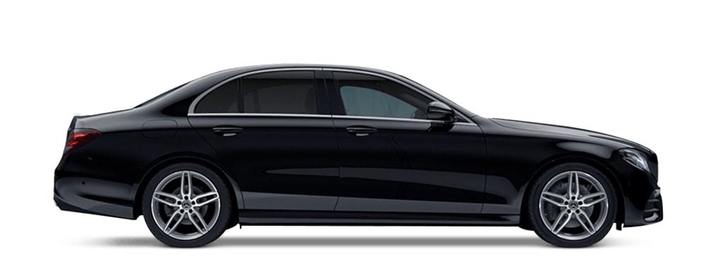 Mercedes black executive taxi Oxford