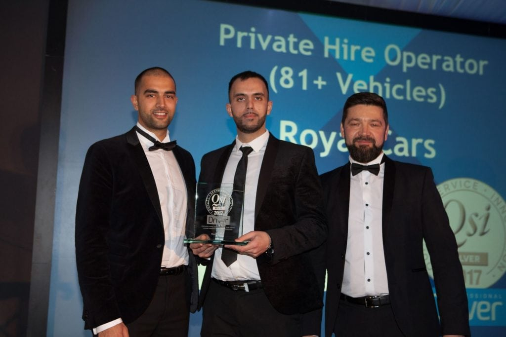 Royal Cars pro driver awards